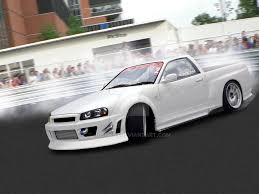 nissan skyline drift car nissan skyline r34 drift ute by joshk93 on deviantart