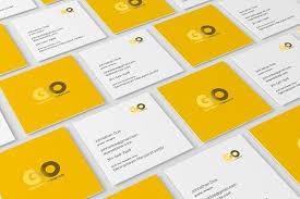 Business Cards Mockups Square Business Card Mockup Product Mockups Creative Market