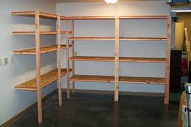 Build Wooden Storage Shelves Garage by Storage And Shelving Ideas Zamp Co