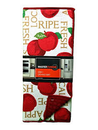 master cuisine amazon com master cuisine dish drying mat reversible apples