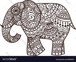 decorative elephant royalty free vector image vectorstock