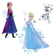 roommates frozen anna elsa and olaf peel and stick giant wall roommates frozen anna elsa and olaf peel and stick giant wall decals wall sticker shop
