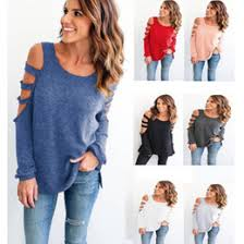 shoulder cut out blouse discount sleeve shirts shoulders cut out 2018 sleeve