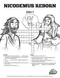 john 3 nicodemus bible sunday crossword puzzles the john 3