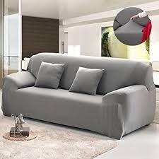 grey twill sofa slipcover amazon com bluecookies stretch arm elastic sofa slipcover grey
