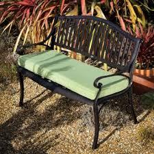 Patio Bench Cushion by Green Metal Garden Bench Cushion Lazy Susan