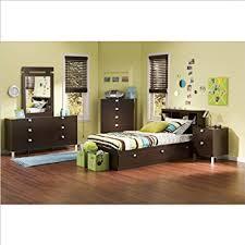 Bedroom Furniture Bookcase Headboard by Amazon Com Kids Twin 4 Piece Bedroom Set With Bookcase Headboard