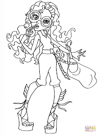 monster high coloring books monster high lagoona coloring page free printable coloring pages