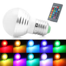 Rgb Led Light Bulb With Remote by E27 5w Rgb Led Light Color Changing Lamp Bulb Remote Control 220v