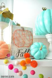 foam pumpkins colorful fall mantel with painted foam pumpkins