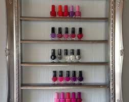Nail Varnish Cabinet Items Similar To Nail Polish Rack For Gel Polish Display Framed