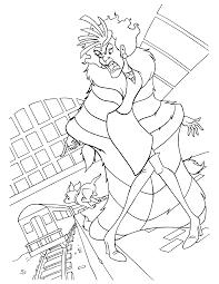 not happy cruella de vil 102 dalmatians coloring pages free