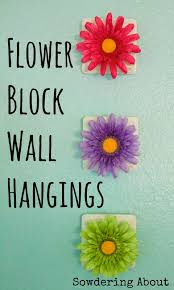 sowdering about in seattle flower wall hangings quick and easy