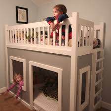 DIY Playhouse Loft Or Bunk Bedso Cutewish Me And My - Loft bunk beds kids