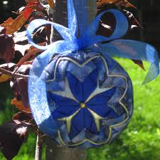 easy no sew folded quilted flower christmas ornament pdf pattern