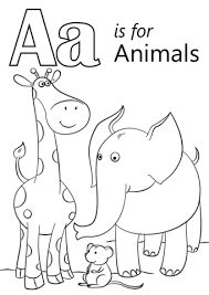 letter animals coloring free printable coloring pages