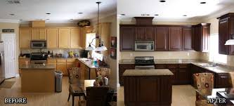 Painted Black Kitchen Cabinets Before And After Resurfaced Kitchen Cabinets Before And After Home Decorating