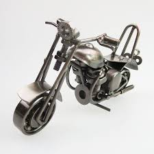 made retro metal welding motorcycle model miniature home craft
