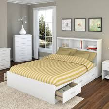 queen size white pine wood bookshelves headboard mixed satin bed