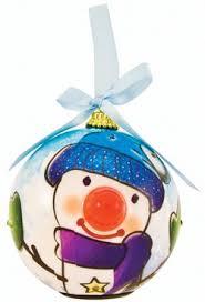 twinkling treasures snowman blinking ornament brand new eci