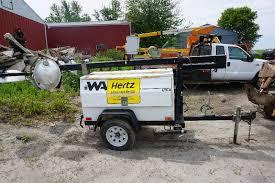 hertz light tower rental chevy bucket truck light tower skid attachments equipment in