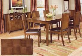 Dining Room Accent Furniture Walnut Finish Dining Room Set Casual Dinette Sets