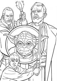 how to draw the star wars characters coloring page download