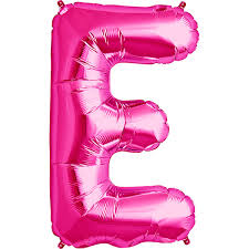 balloon letters simply boutique party supplies balloon 34 letter e pink