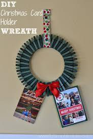 christmas holder diy christmas card holder wreath
