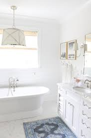 beautiful white bathroom features white walls painted in behr u0027s