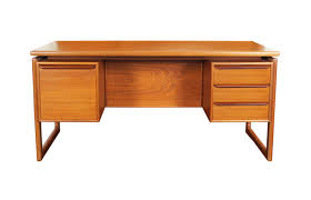 Danish Modern Teak Desk by Danish Modern Noho Danish Vintage Mid Century Furniture