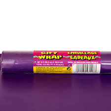 purple wrapping paper 5ft