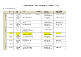 Radio Station Schedule Template best photos of itinerary template schedule