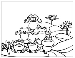 free printable frog coloring pages kids