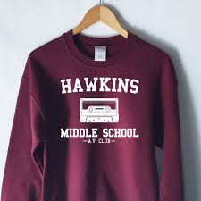 hawkins middle av club sweatshirt stranger things