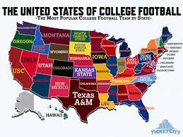 Map Of Florida Colleges by United States Of College Football Map Visual Ly