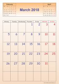 march 2018 calendar u2013 template portrait printable 2017 calendar