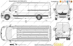 renault master 2013 the blueprints com vector drawing renault master l4h2 rwd
