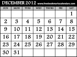 2012 calendar template excel