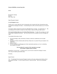 insurance prospecting letter sample docoments ojazlink