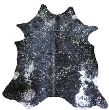 Silver Cowhide Rug Chesterfield Leather Extra Large Brazilian Cowhide Silver U0026 Black