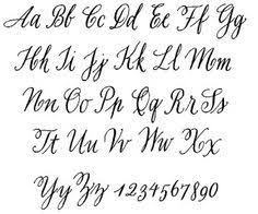 printable cursive letters and numbers lettertypes pinterest