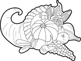 coloring nice cornucopia coloring 4263 thanksgiving