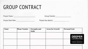 student group contracts facilitate better collaboration deeper