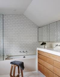 Bathroom Floor To Roof Charcoal by Modern Bathroom With White Metro Tiles Home Bathrooms