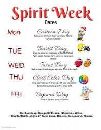 customizable design templates for spirit week postermywall