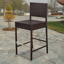 patio furniture bar stools and table strong camel dark coffee wicker barstool indoor outdoor patio
