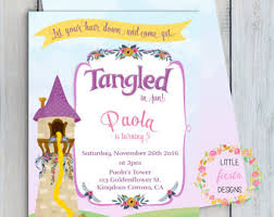 Tangled Wedding Rings by Rapunzel Invitations Etsy