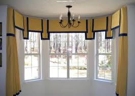 Bay Window Valance Bay Windows Using Yellow Curtains And Valances Different Types