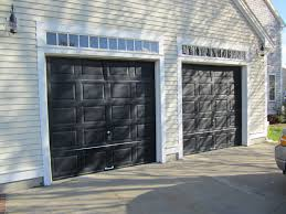 Overhead Doors Dallas by Haas Model 680 Steel Raised Panel Garage Doors In Black Installed